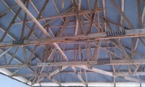 Dachkonstruktion des Schlafsaals